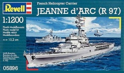 1/1200 FRENCH HELICOPTER CARRIER JEANNE D'ARC R97