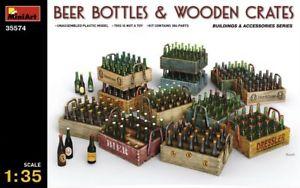 1/35 BEER BOTTLES & WOODEN CRATES
