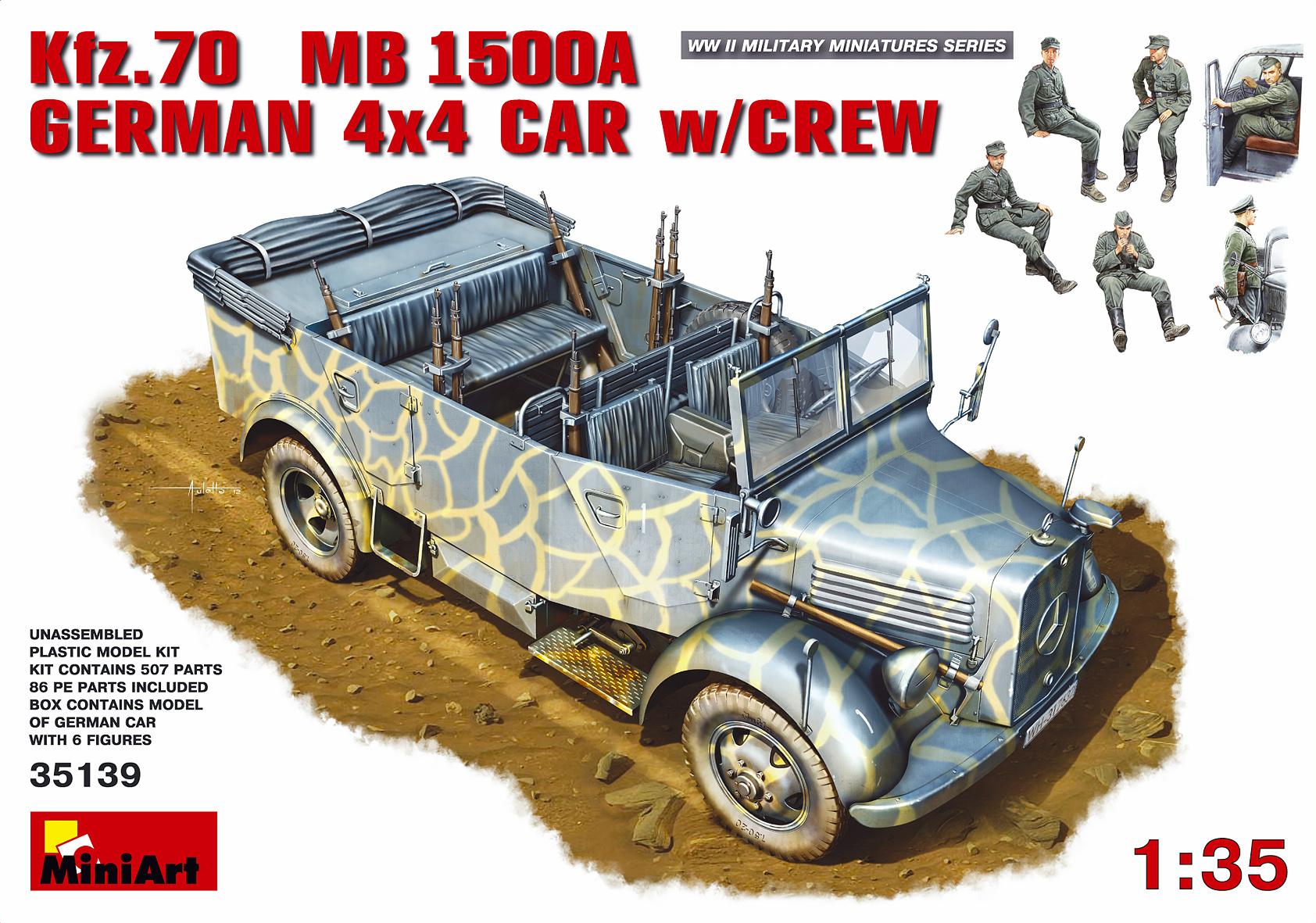 1/35 Kfz.70 (MB 1500A) German 4x4 Car w/Crew