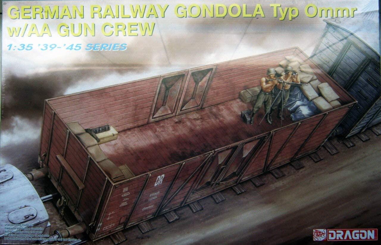 1/35 German Railway Gondola Typ Ommr with AA Gun Crew