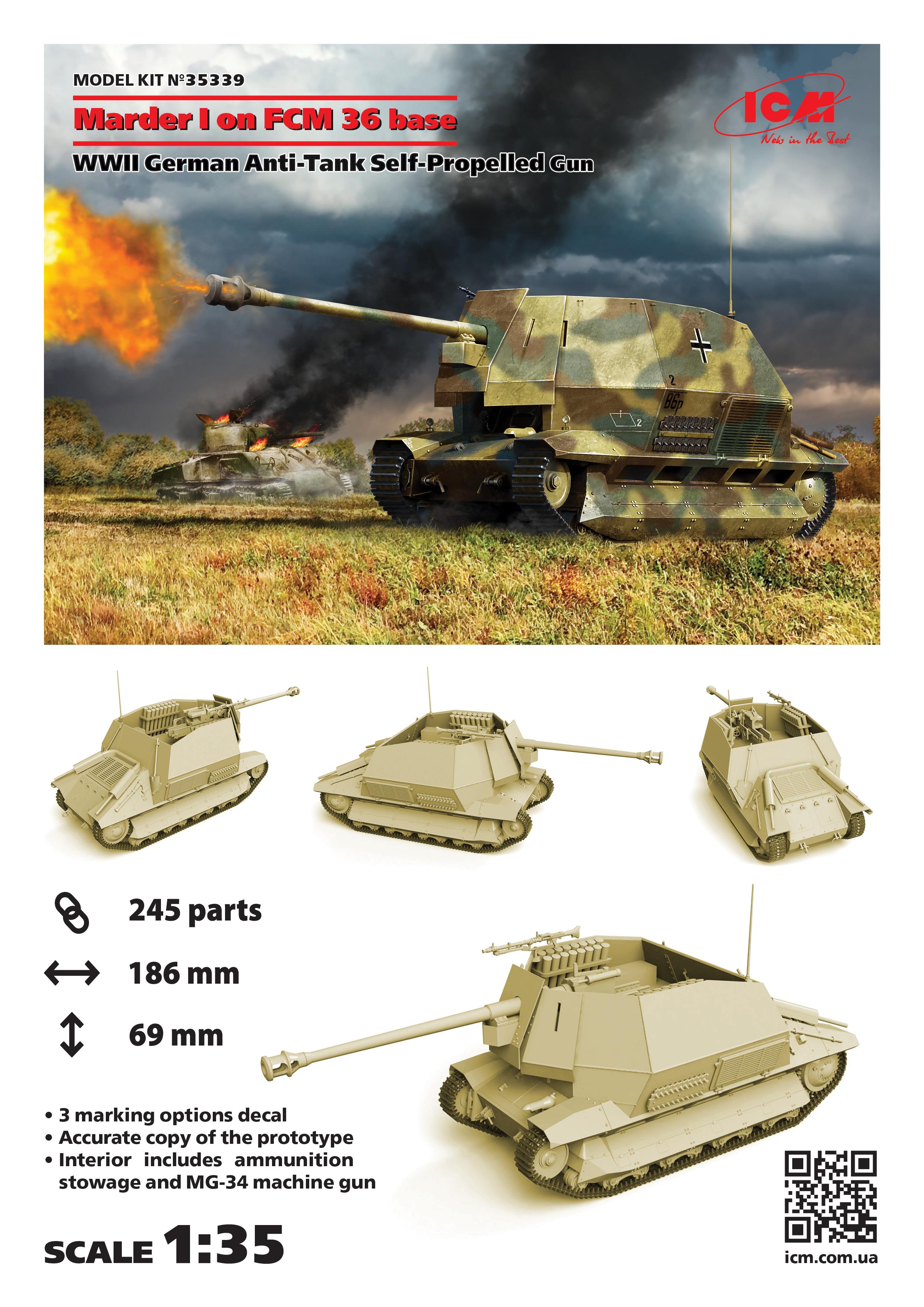 1/35 Marder I on FCM 36 base, WWII German Anti-Tank