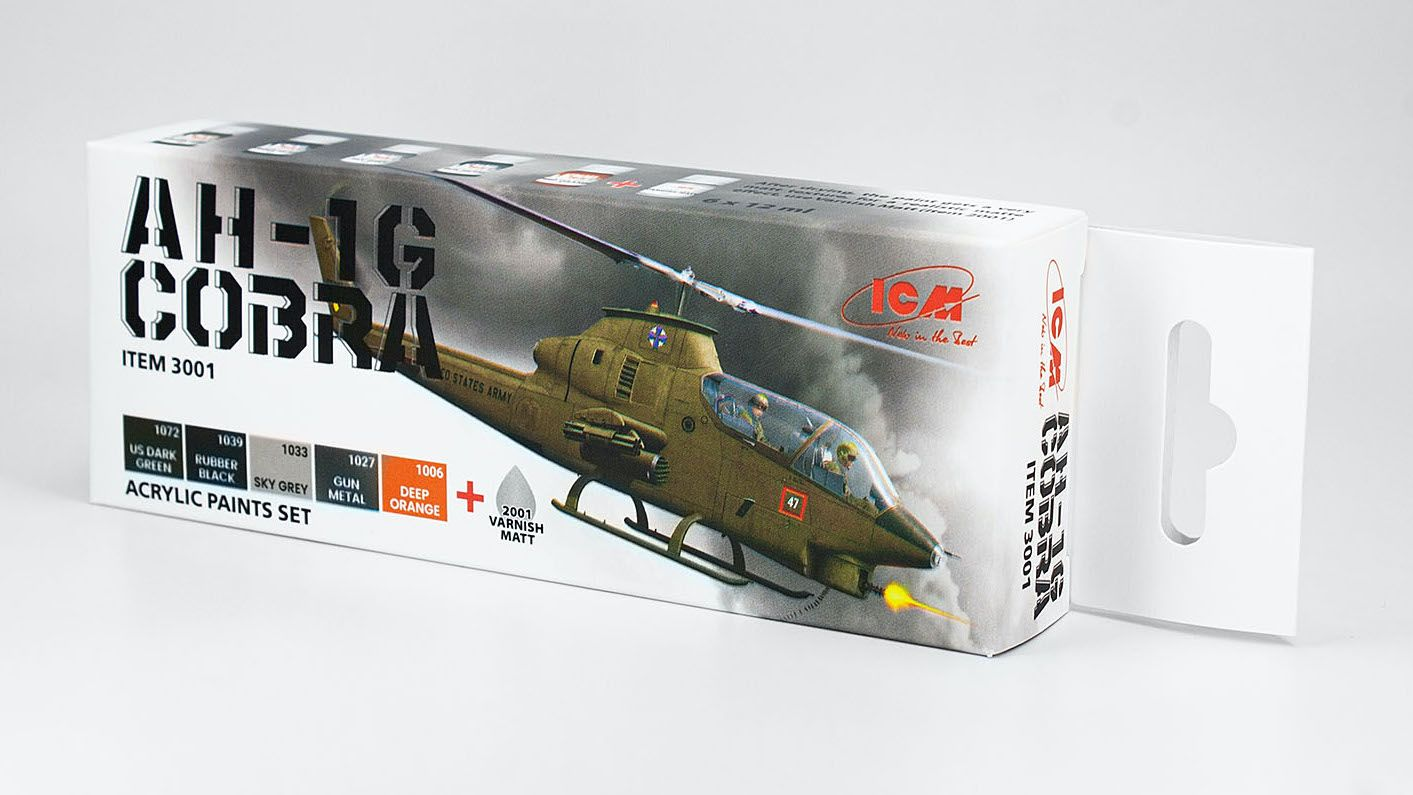 Acrilyc paint set for AH-1G Cobra (early production), US