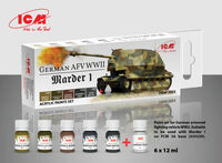 Paint set for German AFV WW2 and Marder I