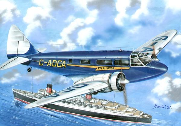1/72 Airspeed Envoy, Lynx IV C 4 decal v. for Japan, Spain Nat