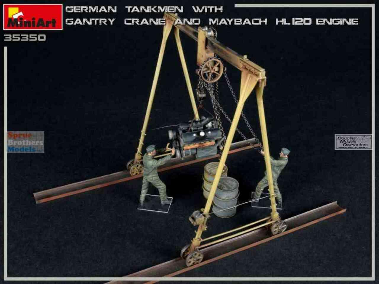 1/35 German Tankmen with Gantry Crane & Maybach HL