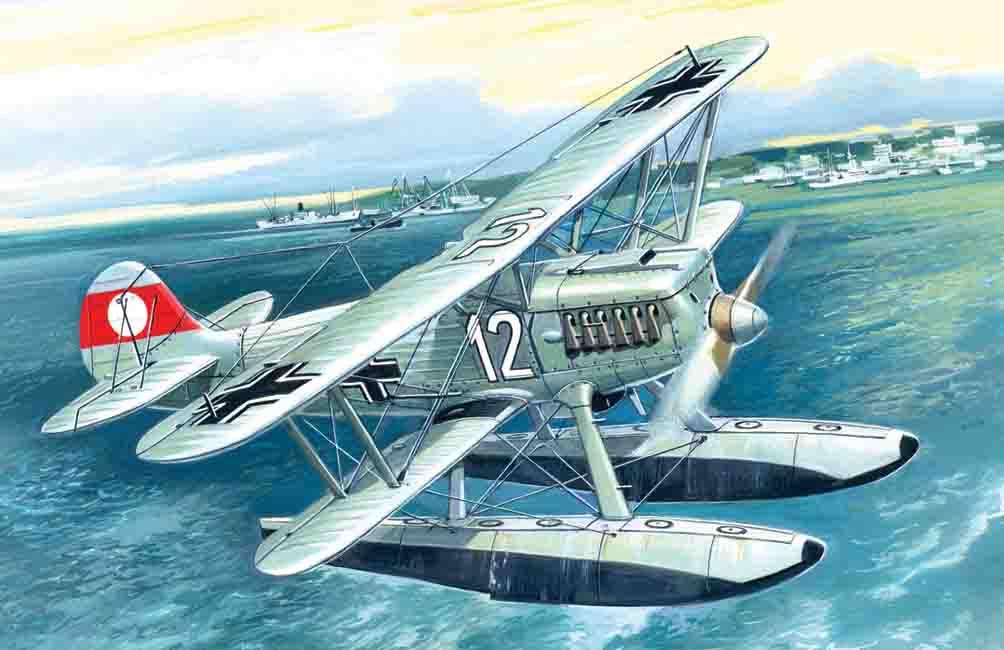 1/72 Heinkel He 51B-2, German Floatplane Fighter