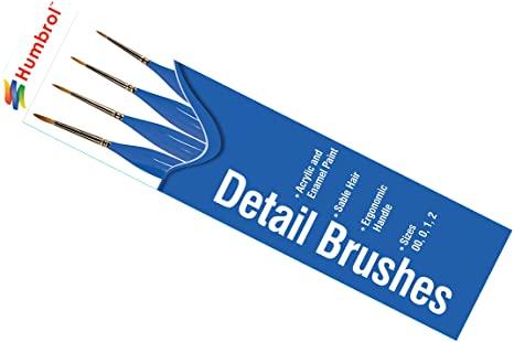 Brush Pack - Detail Ergonomic Handle 00, 0, 1, 2