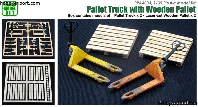 1/35 Pallet Truck With Wooden Pallet